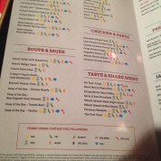 Symbols on Menu overlay for allergy sufferers