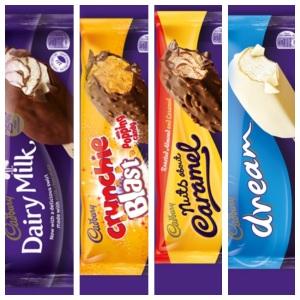 Gluten Free Cadburys Ice Cream Sticks