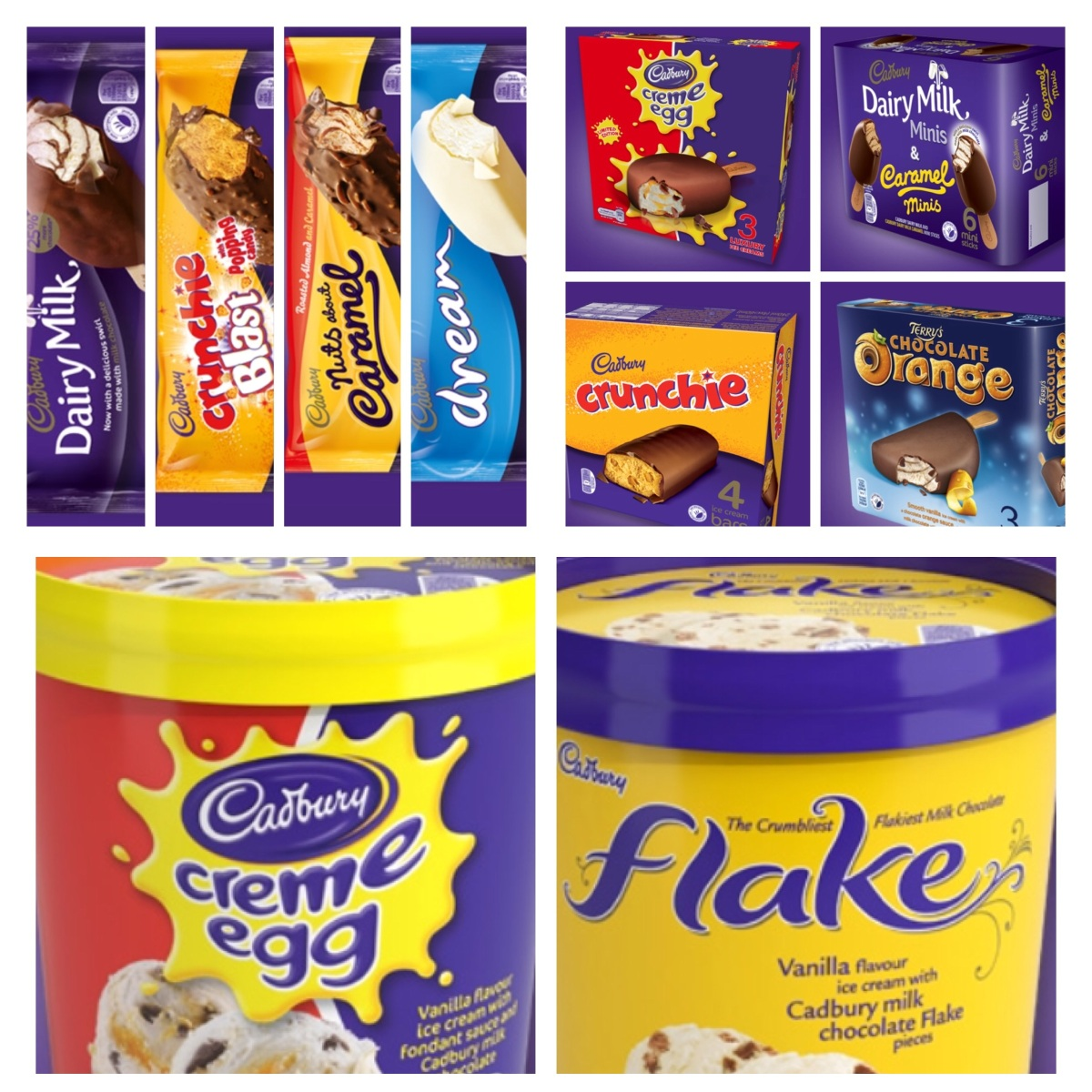 More Gluten Free Ice Cream products to enjoy... (by Mars and Cadburys)