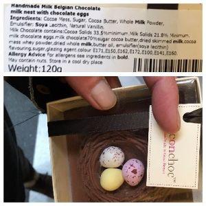 Handmade Milk Belgian Chocolate Milk nest with Chocolate Eggs by ChoconChoc