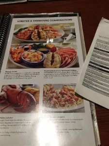 Lobster Combinations on the Red Lobster menu
