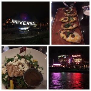 My GF Dinner at Hard Rock Cafe, Universal's CityWalk.
